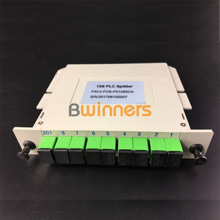 BWINNERS BWN-PLC-IM-1X8 Insertion Module 1x8 PLC Splitter, with SC/APC Connector