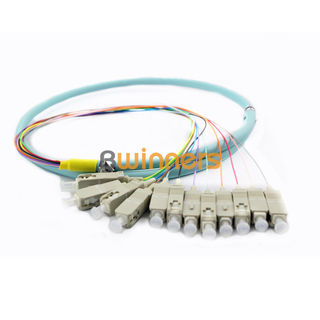 BWINNERS Multi-Mode OM3 12 Colors SCUPC Fiber Optic Pigtail/ Patchcord Jumper Cable Pigtail