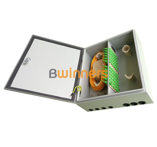 BWINNERS SJ-ODB-M18 Wall Mounted Outdoor FTTH Fiber Distribution Box Enclosure 72 Cores