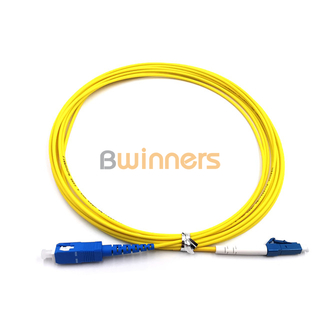 BWINNERS SC/APC-LC/PC Simplex SM 3.0MM 10M Fiber Optic Patch Cord / Patchcord Jumper Cable Pigtail