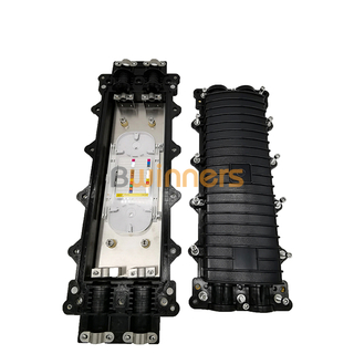 GJS-24-B Horizontal Type Fiber Optic Splice Closure With Stainless Steel Bracket