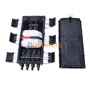Big Capacity Horizontal 6 in 8 Out Fiber Optic Splice Closure 96 Cores