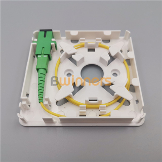 SJ-FTTH-MN-3 1 Port Mini Fiber Optic Wall Socket Face-plate FTTH Box SC Fiber Optic Socket Panel